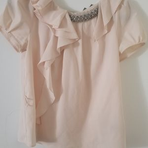 Cream Pink Blouse